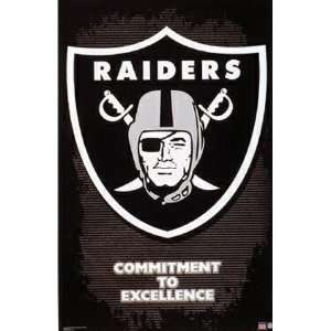 Oakland Raiders Logo Poster 3425: Home & Kitchen