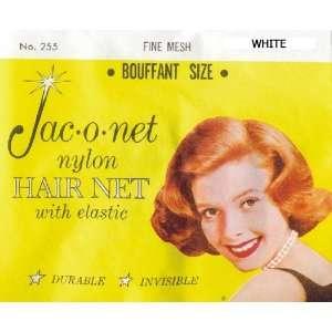 Jac o net Nylon Hair Net Bouffant With Elastic * White