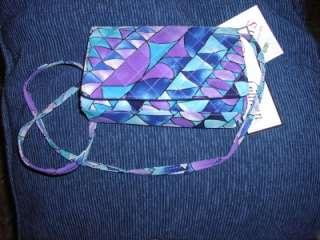 Diane Gilman Silk Multi Color Purple & Blues prt clutch/s/bag