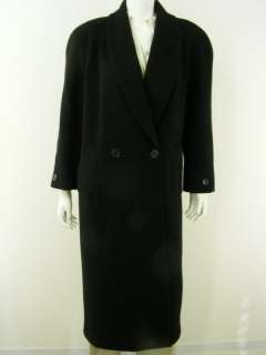 womens vintage coat Jones New York black L full length classic