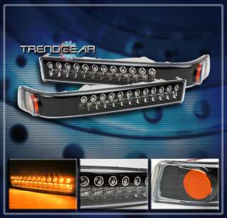 blazer gmc sonoma led clear front bumper signal lights black
