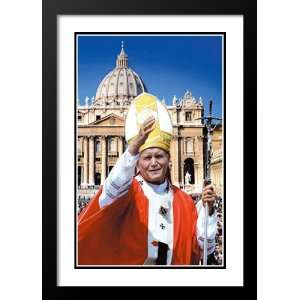 Pope John Paul II Bridges 20x26 Framed and Double Matted
