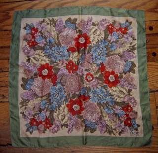 Vintage Square Silk Scarf