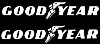 WHITE GOODYEAR 22 RACING DECALS STICKERS NASCAR NHRA