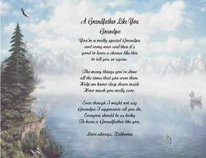 GRANDFATHER PERSONALIZED POEM 9 DESIGNS
