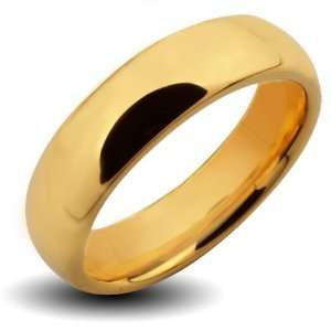 Tungsten Carbide Gold IP Classic Band Ring   Size 9 West