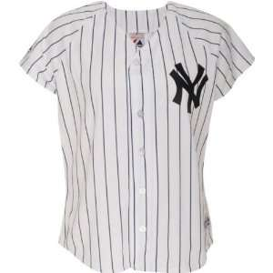 New York Yankees Home Pinstripe Womens MLB Replica Jersey Sports