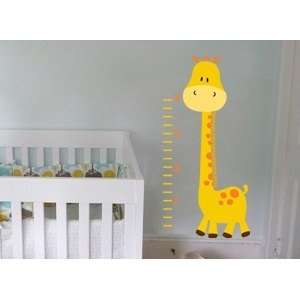 giraffe growth Chart great for nursery or kids room