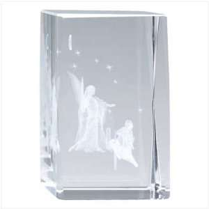 Guardian Angel Glass Cube: Home & Kitchen