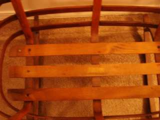 ANTIQUE HANDCRAFTED BENTWOOD BABY DOLL CRADLE, c. Early 19th Century