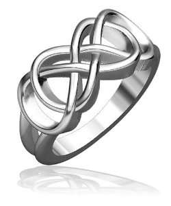Double Infinity Symbol Ring, Best Friends Forever Ring