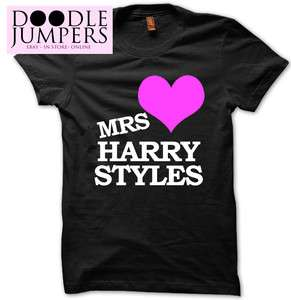 MRS HARRY STYLES T SHIRT TOUR TEE T SHIRT ONE DIRECTION