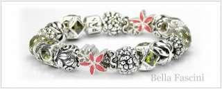 Bella Fascini OLIVE & LEAF High Quality Silver European Bead Spacer