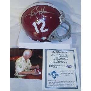 Ken Stabler Alabama Crimson Tide Autographed Mini Helmet