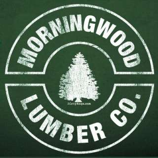 MORNINGWOOD LUMBER T SHIRT Ax morning wood MEN GREEN