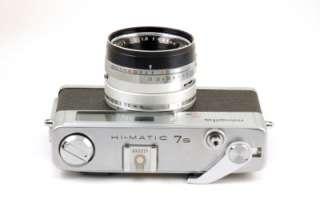 MINOLTA Hi Matic 7s Rangefinder 35mm Film Camera and Leather Case