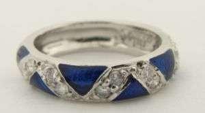 Ladies Designer 18K Diamond & Enameled Hidalgo Ring