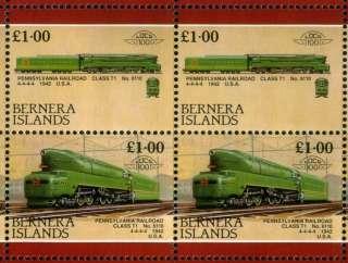 1942 Pennsylvania Railroad T1 4 4 4 4 TRAIN STAMP SHEET