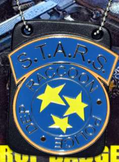 Resident Evil STARS Metal Prop Replica Badge with leather neck holder