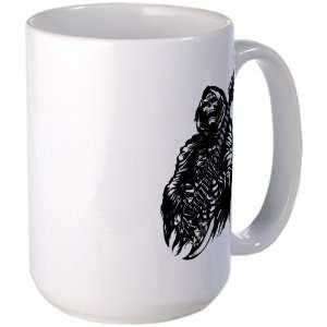 Coffee Drink Cup Grim Reaper Heavy Metal Rock Player