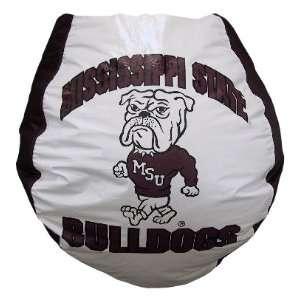 Bulldogs Collegiate Vinyl Bean Bag Chair BB 40 MSST