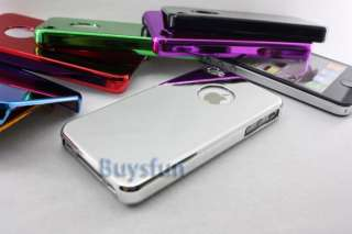 Metallic Finish Hard Mirror Cover Case For Apple iPhone 4 4G 4S