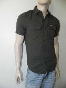 New Hollister Hco. Mens Graphic Button Front Shirt