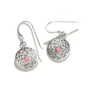 Crown Chakra Earrings Sterling Silver with Pink Enamel