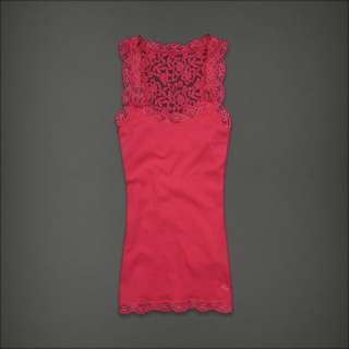 Abercrombie & Fitch by Hollister womens Sexy Lace Tank Top T Shirt NWT