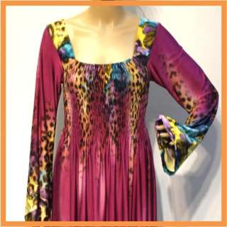Size XL 2XL 3XL 16 18 20 New Purple Evening Hippie Womans Long Sleeve