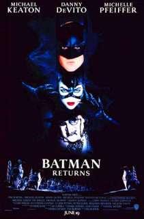 BATMAN RETURNS 2 sided orig movie poster MICHAEL KEATON
