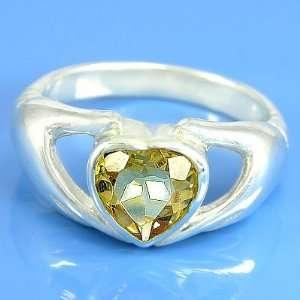 4.00 grams 925 Sterling Silver Heart Gemstone Engagement