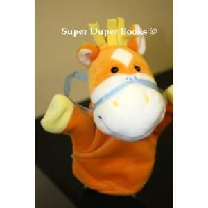 Orange Yellow and White Horse Pony Stuffed Character Toy