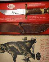Vintage CASE XX 1981 Stag KODIAK HUNTER Sheath Knife in Original Box