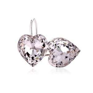Perfect Gift   High Quality Lovely Peach Heart Earrings with Silver