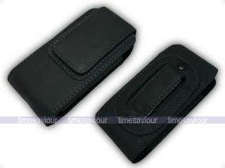 Vertical Black Leather Case for Samsung Galaxy 5 i5500