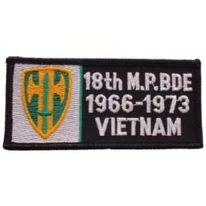 U.S. Army 18th Military Police Brigade 1966 1973 Vietnam Patch