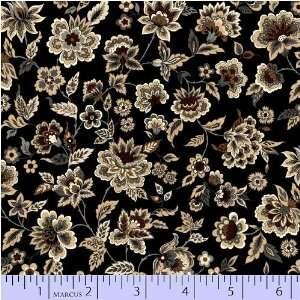 Quilting Fabric Metro Au Naturel Black Small Floral