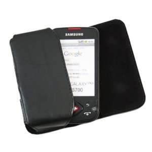 Case with Belt Loop for Samsung i5700 Galaxy Lite   Black Electronics