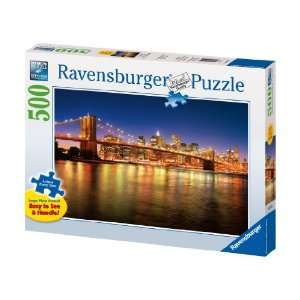Nyc Skyline   500 Pieces Large Format Puzzle Toys & Games