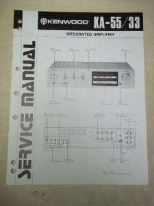Kenwood Service Manual~KA 55/33 Integrated Amplifier~Original