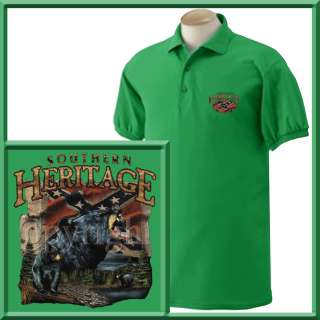 Irish green polo shirts are only available in S 2X.