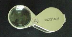 Jewelers Loupe, 10x21mm Loupe, Jeweler Magnify Glass