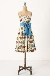 Anthropologie Lepidoptera Dress Maeve Butterfly 8 10 M