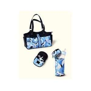 Diaper Bag Set Includes Insulated Bottle Bag, Changing Pad and more