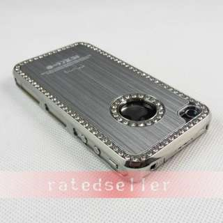Premium Bling Diamond Rhinestone Hard Case Cover For iPhone 4 4S 4G
