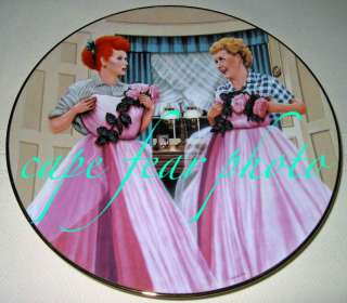 Love Lucy Lucille Ball TWO OF KIND Plate MIB/COA