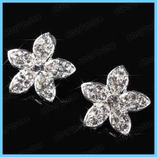 New *Star* Crystal Rhinestone Stud Earrings Nickel Free