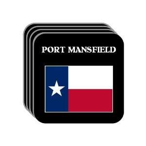 US State Flag   PORT MANSFIELD, Texas (TX) Set of 4 Mini
