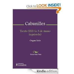 Tiento XXII (a 3 de mano izquierda) Sheet Music Juan Cabanilles